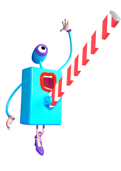 Ilustrace - Postavička brány skáče do vzduchu